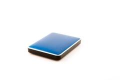 External hard drive on white background. Stock Photo