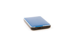 External hard drive on white background. Royalty Free Stock Photos