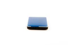External hard drive on white background. Stock Photos