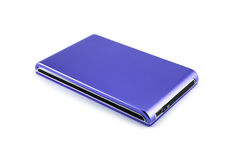 External hard drive on white background Royalty Free Stock Photos