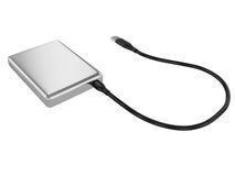 External HDD. External hard drive isolated on white background Stock Photo