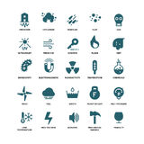 External influence protection vector icons Royalty Free Stock Image