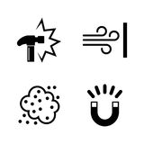 External influence. Simple Related Vector Icons Stock Images