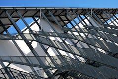 External ladder. External fire escapes on a modern building Royalty Free Stock Photos