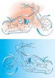 external lines motorcykeln royaltyfri illustrationer