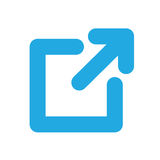 External Link Icon. So user knows they will leave their current website Stock Photography