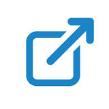 External Link Icon. User will know they are leaving the app to visit an external website Stock Image