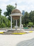 Moldova font - Chisinau. External monument baptismal font in the park in the center of city Cattedral Kishinev chisinau royalty free stock photo