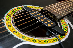 External pickup for acoustic guitar Stock Image