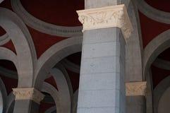 External portico of the station `porta nuova`, Torino, Italy royalty free stock image