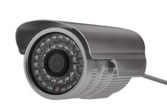 External security surveillance camera with night vision LED back Stock Image