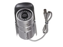External security surveillance camera with night vision LED back Royalty Free Stock Images