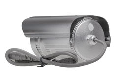 External security surveillance camera with night vision LED back Stock Photos
