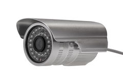 External security surveillance camera with night vision LED back Stock Photo