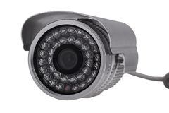 External security surveillance camera with night vision LED back Royalty Free Stock Photos