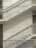 External stair of modern building Royalty Free Stock Image