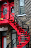 External stairs homes montreal Stock Photography
