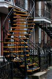 External stairs homes montreal Stock Photos