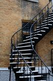 External stairs homes montreal Royalty Free Stock Photo