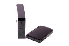 External storage devices Stock Photo