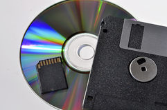 External storage devices Stock Images