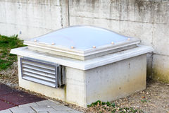 External ventilation and lighting unit of an underground garage Stock Images
