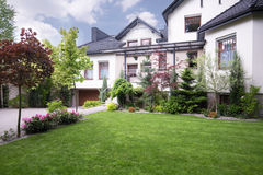 External view of detached house Royalty Free Stock Photography