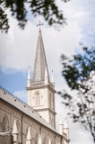 External view of historical chapel Chijmes royalty free stock images