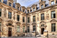 ExHotel de Sully, Le Marais district, Paris. France stock photography
