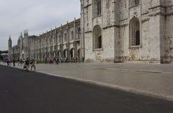 External view of Jeronimos Monastery Royalty Free Stock Photo