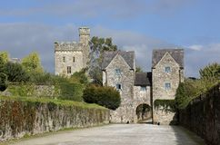 External view of Lismore Castle, Co Waterford, Munster Province, Ireland. Originally built in 1185 by King John, Lismore Castle was owned in turn by Sir Walter Royalty Free Stock Image