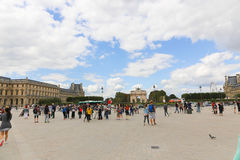 External view of Louvre Museum Royalty Free Stock Photos