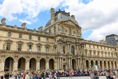 External view of Louvre Museum Stock Photography