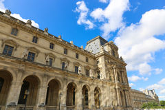 External view of Louvre Museum Royalty Free Stock Image