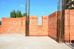 External wall constructions Stock Image