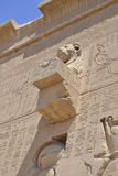 External wall of an Egyptian temple Royalty Free Stock Images