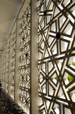 External wall of Malaysia National Mosque aka Masjid Negara Stock Photography