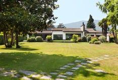 External white villa Stock Images