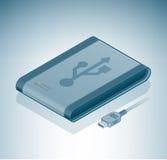 Externe Aandrijving USB Stock Foto