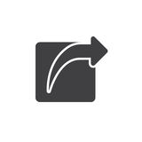 Externe Anteilikone, feste Logoillustration, Piktogramm I Stockfoto