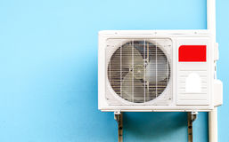 Externe engine of an air conditioner Stock Image