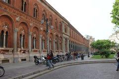 Externe mening van de openbare Universiteit van Milaan Stock Afbeelding