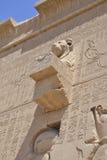 Externe muur van een Egyptische tempel royalty-vrije stock afbeeldingen