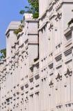 Externe Seitenansicht des Gebäudes Stockfotos