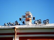Externe verlichting op het dak Stock Afbeeldingen