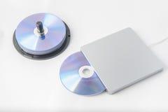 Externer DVD-Verfasser Lizenzfreies Stockfoto