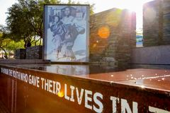 Externer Hector Pieterson Memorial Museum in Soweto Johannesburg Lizenzfreie Stockfotos