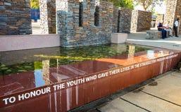 Externer Hector Pieterson Memorial Museum in Soweto Johannesburg Stockbild