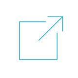 Externer Link-Ikone Lizenzfreie Stockfotografie