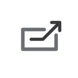 Externer Link-Ikone Lizenzfreie Stockfotos